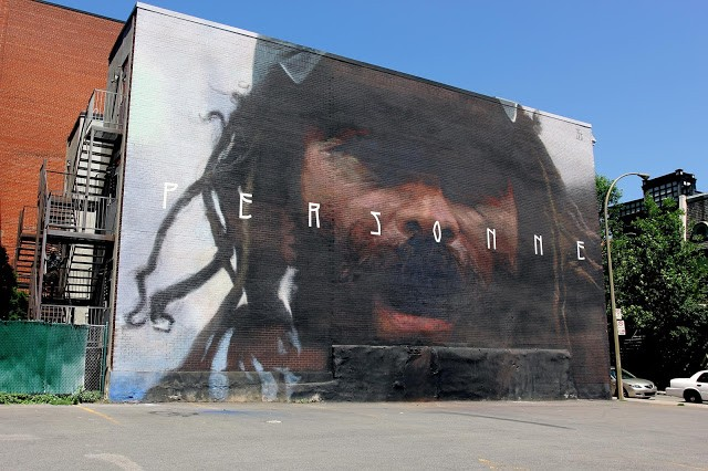 "Mural '15: ""Personne"", a new mural by Axel Void in Montreal, Canada"