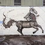 "Pow! Wow! '15: Alexis Diaz paints ""El Sagitorio"" in Honolulu"
