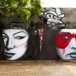 "Fin DAC x Angelina Christina ""Double Dutch"" New Mural For Art Basel '13 – Miami, USA"