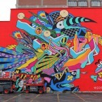 Mural '15: Bicicleta Sem Freio unveils a giant mural in Montreal, Canada