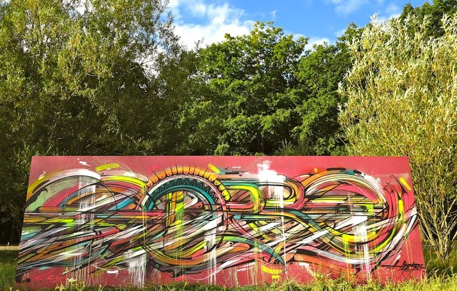 """Hopare """"Abstraction"""" New Street Art In Limours, France"""