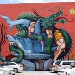 """SeaWalls '15: """"Eat This"""", a new mural by JAZ in Cozumel, Mexico"""