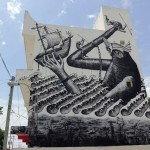 SeaWalls '15: Phlegm paints a new mural in Cozumel, Mexico