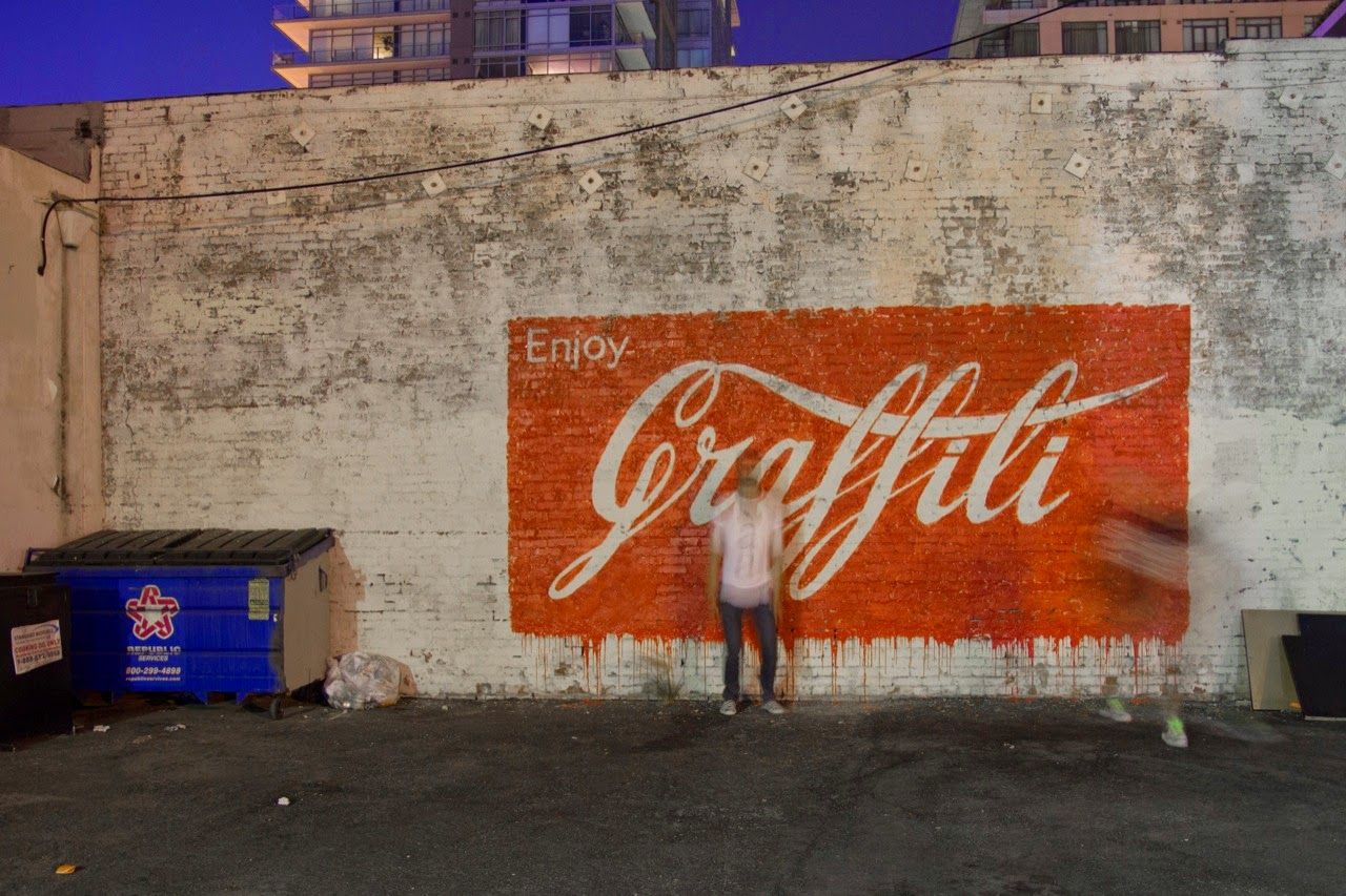 Ernest Zacharevic New Mural - Los Angeles, USA