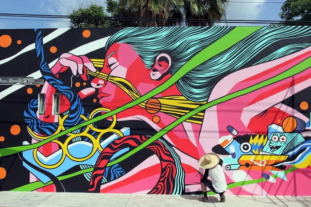 SeaWalls '15: Work In Progress by Bicicleta Sem Freio in Cozumel, Mexico