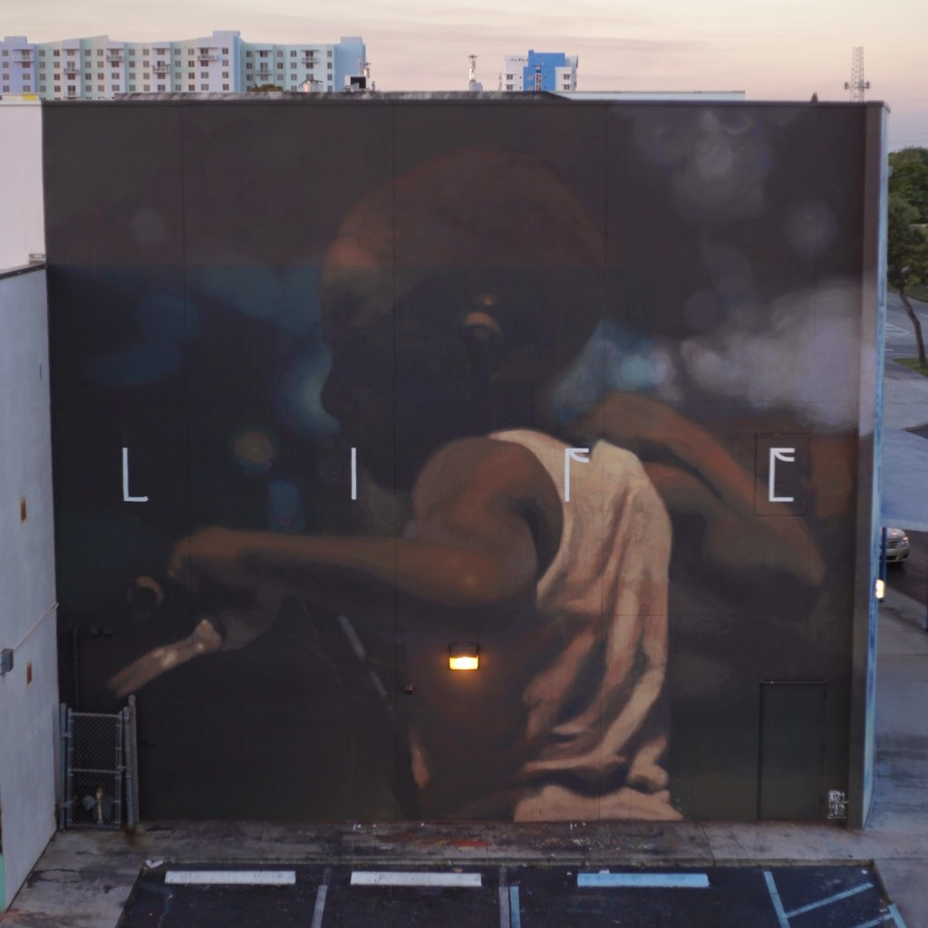 "Art Basel '14: Axel Void paints ""Life"", a new mural in Wynwood, Miami"