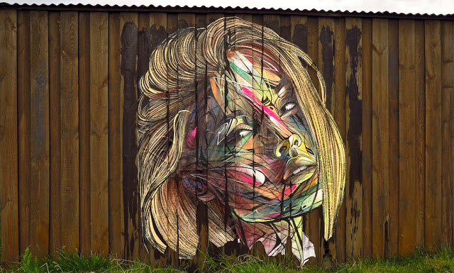 A new mural by Hopare in Reykjavik, Iceland