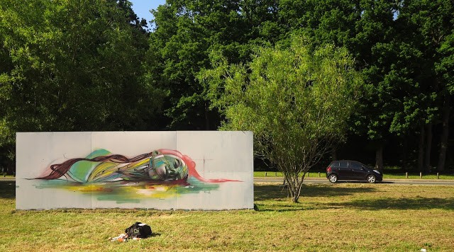 Hopare New Mural In Limours, France