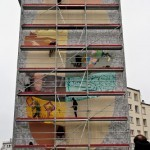 Da Mental Vaporz (Dran, Bom.K, Sowat…) New Mural In Progress, Brest France