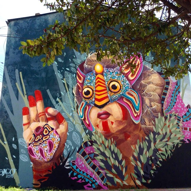 """Gleo unveils """"A Contramano"""", a new mural in Bogota, Colombia"""