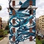 Pantonio creates a new piece in Rome, Italy
