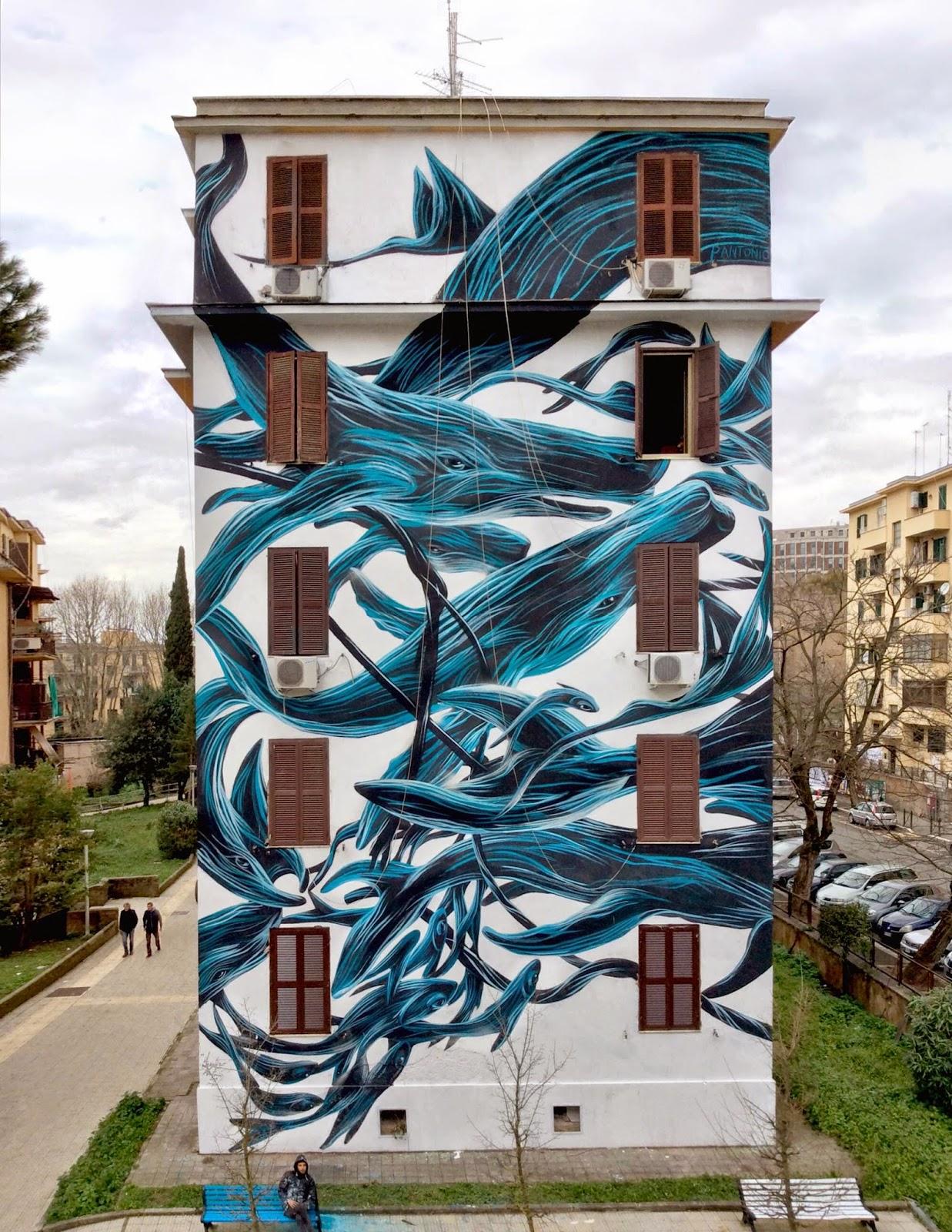 pantonio creates a new piece in rome italy streetartnews streetartnews. Black Bedroom Furniture Sets. Home Design Ideas