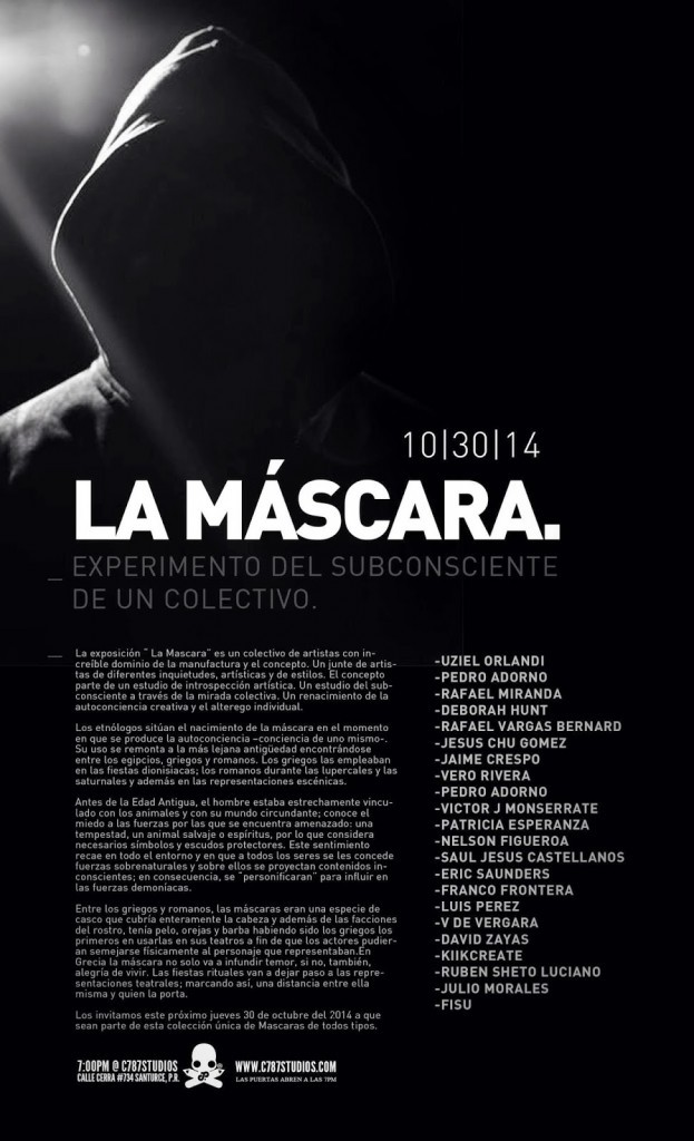 "Exhibition: ""La Máscara"" group show @ San Juan's C787Studios"