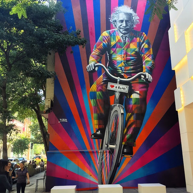 Edoardo Kobra paints a new mural in Sao Paulo, Brazil