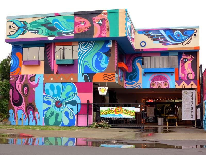 REKA New Mural For POW! WOW! 2014 - Honolulu, Hawaii