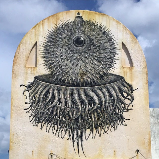 SeaWalls '15: Alexis Diaz creates a new piece in Cozumel, Mexico