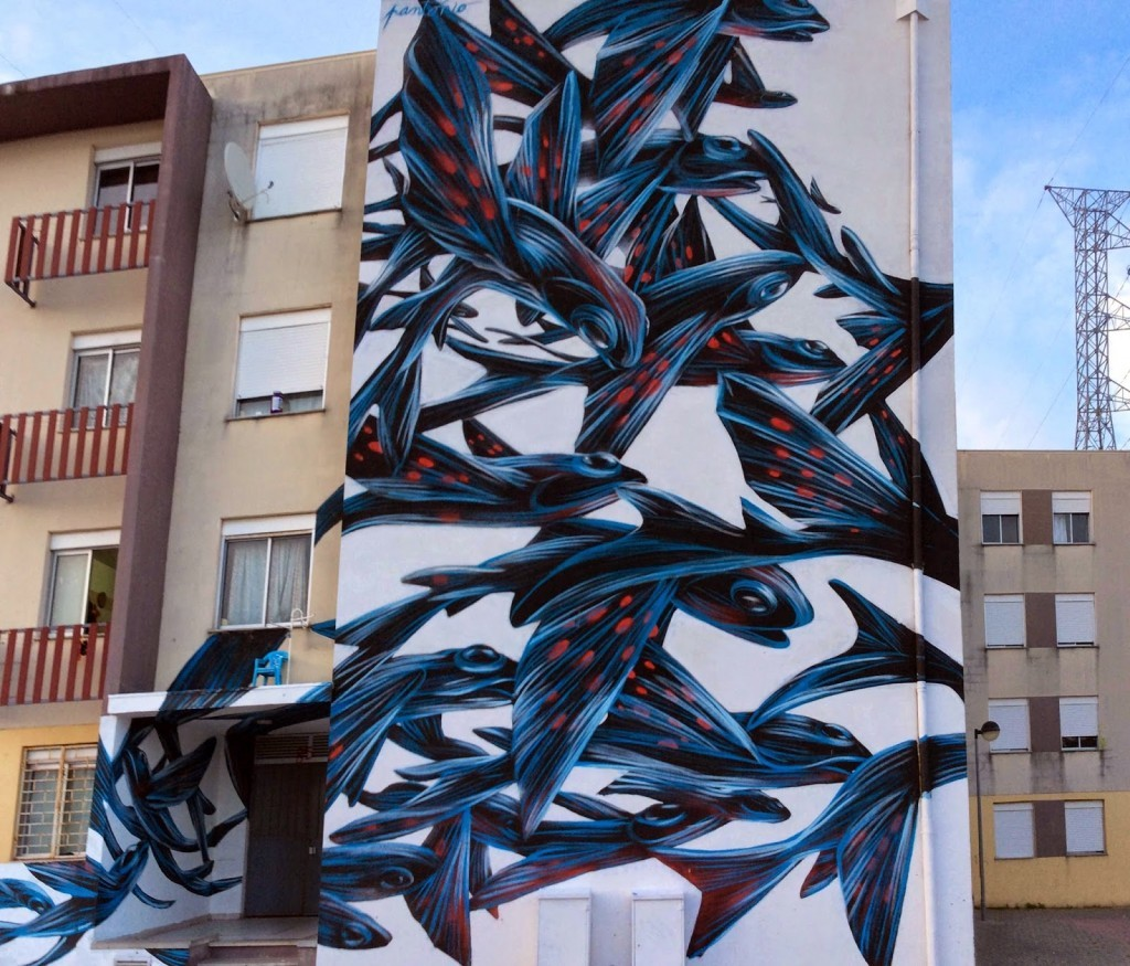 Pantonio paints a new mural in Loures, Portugal