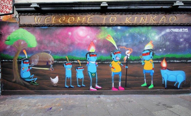 Cranio New Street Art Mural On Brick Lane, East London, UK