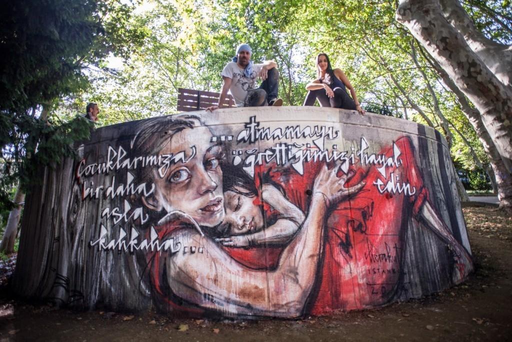 Herakut New Mural – Istanbul, Turkey