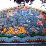 Zio Ziegler creates a new mural in Ross, California