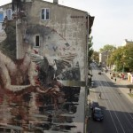 Borondo unveils a new mural in Lodz, Poland