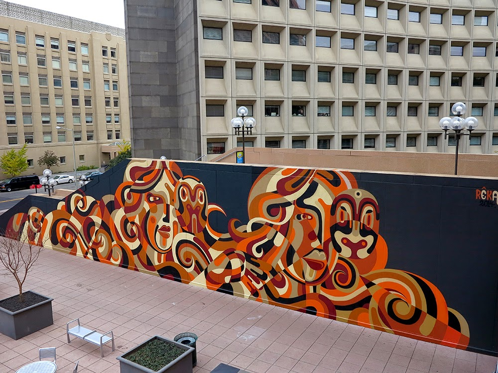 Reka paints a new mural in Washington DC, USA