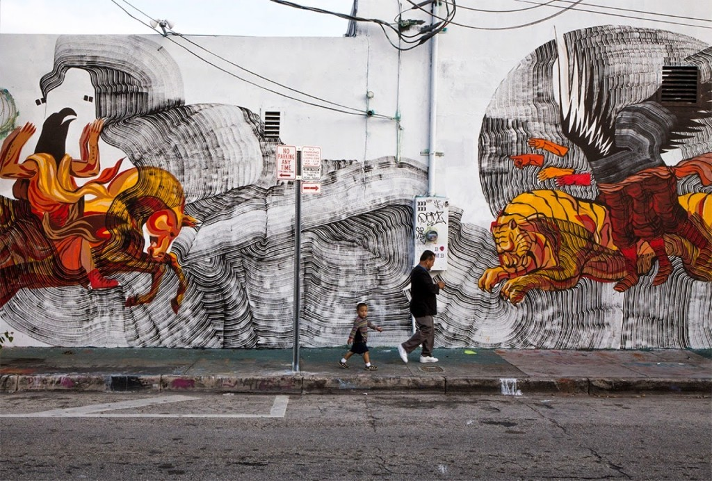 Art Basel '14: New collaboration and solo murals by JAZ an 2501 in Wynwood, Miami