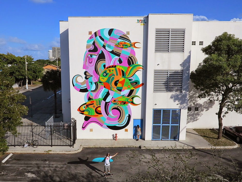 Art Basel '14: REKA paints a vibrant mural in Miami, USA