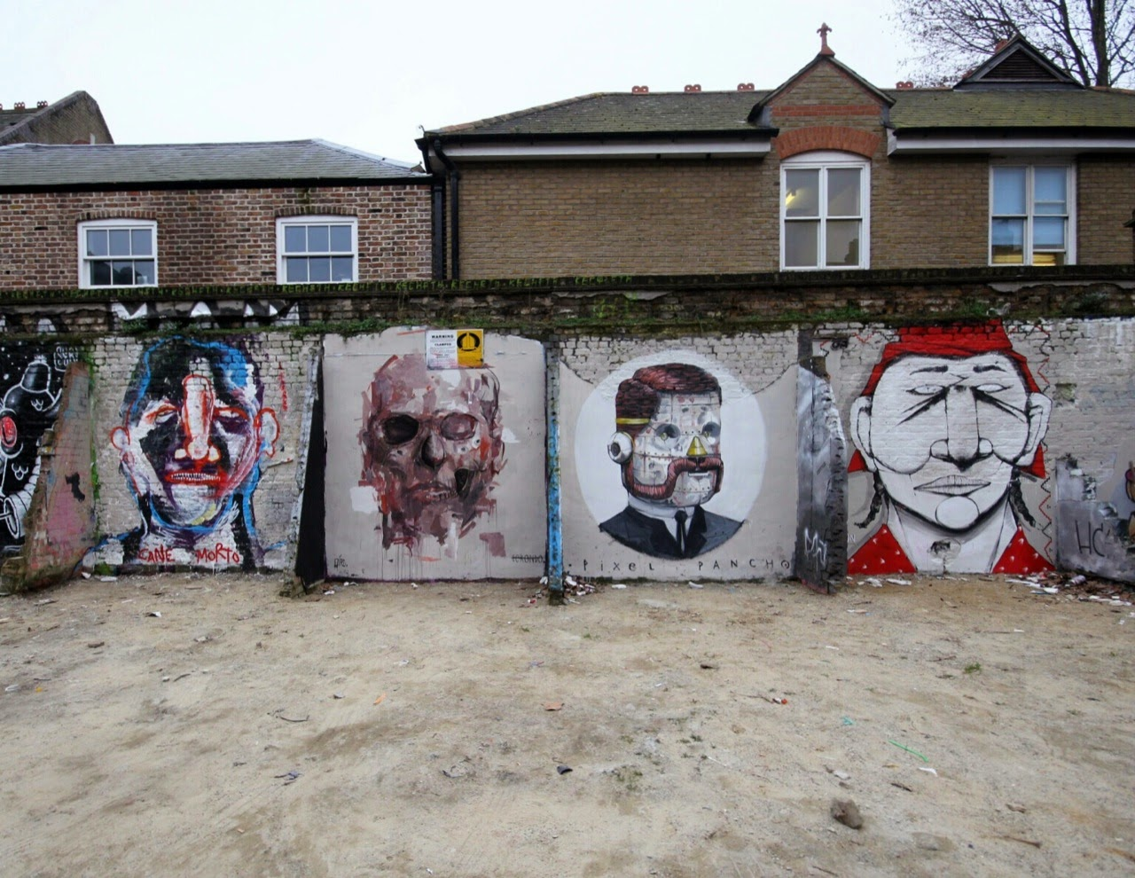 Borondo x Alexis Diaz, Pixel Pancho, RUN, Cane Morto New Street Pieces - London, UK
