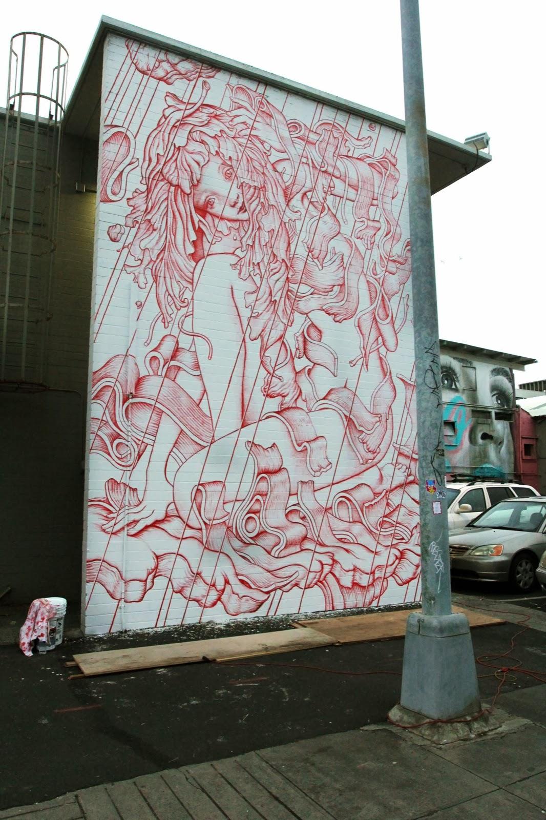James Jean New Mural For POW! WOW! Hawaii 2014 - Honolulu