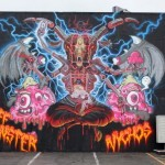 Nychos x Buff Monster New Mural For POW! WOW! 2014 – Honolulu, Hawaii