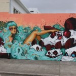 Tatiana Suarez x Angry Woebots New Mural For POW! WOW! 2014 – Honolulu, Hawaii