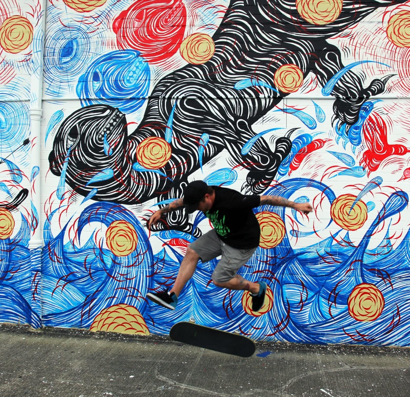 Andrew Schoultz New Mural For POW! WOW! 2014 - Honolulu, Hawaii