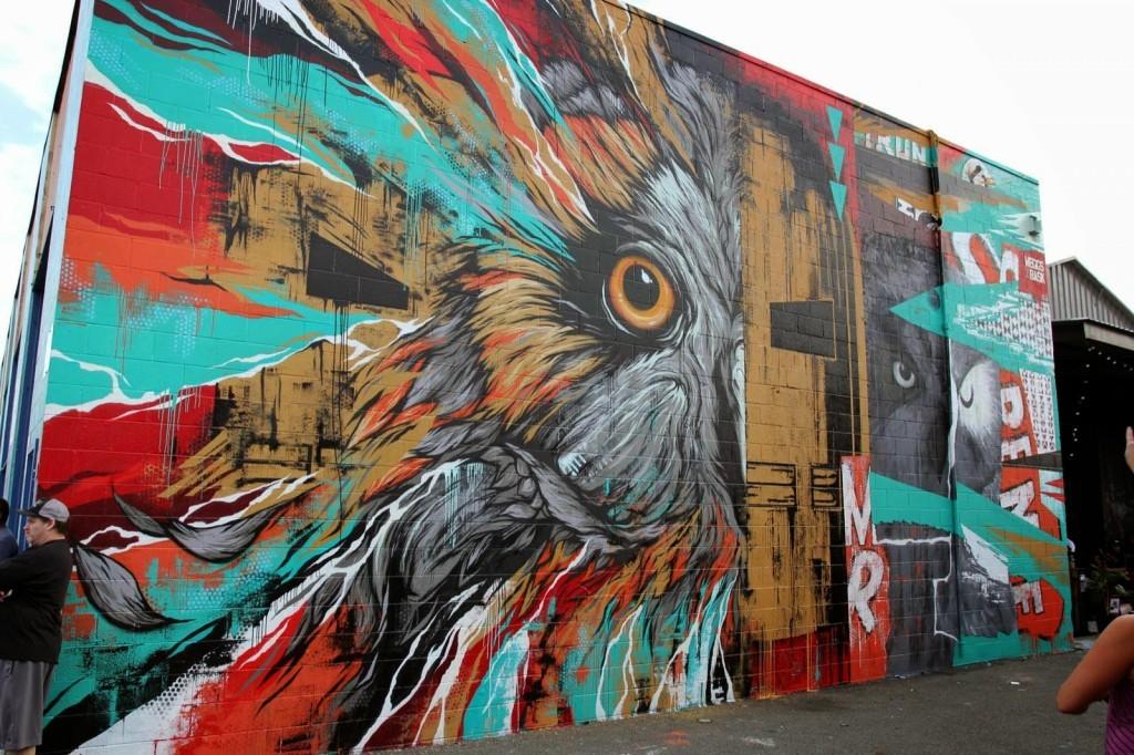 Meggs x Bask New Mural For POW! WOW! 2014 – Honolulu, Hawaii