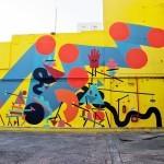 Chu creates a new mural at the Ciudad Cultural Konex in Buenos Aires.