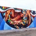 Ever creates a new mural for Board Dripper in Queretaro, Mexico