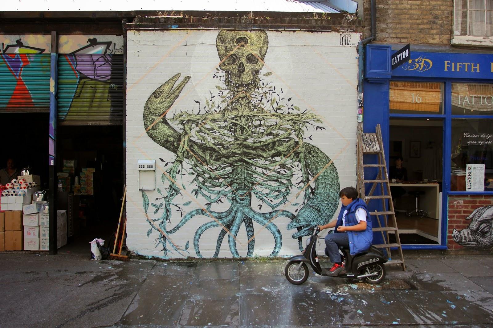 Alexis Diaz New Mural - Brick Lane, London
