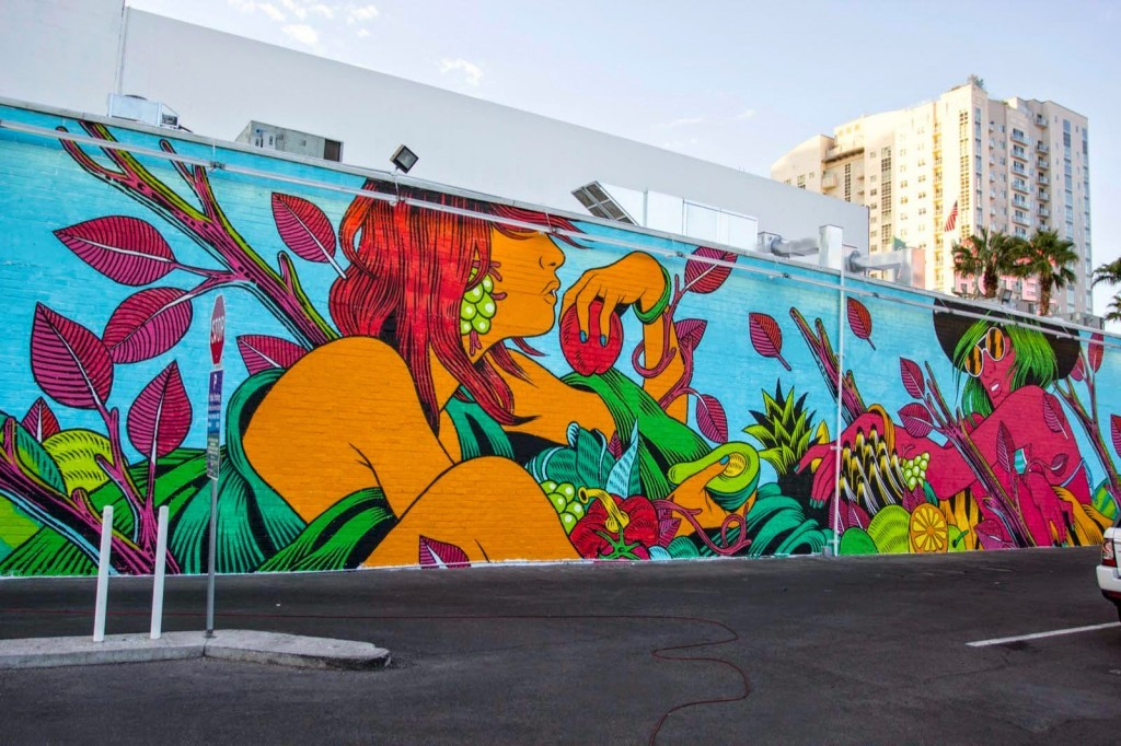 Bicicleta Sem Freio create a new mural for Life Is Beautiful & JustKids