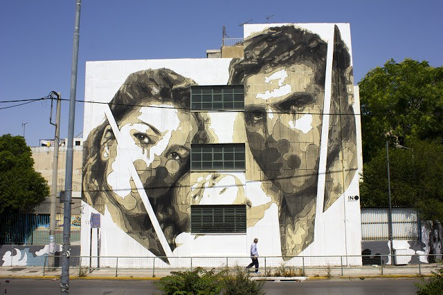 """Random Future"", a new piece by iNO in Athens, Greece"