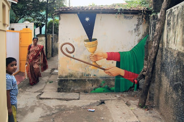 Interesni Kazki New Mural In Kochi, India