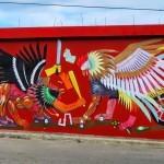 JAZ creates a new mural in Rio San Juan, Dominican Republic