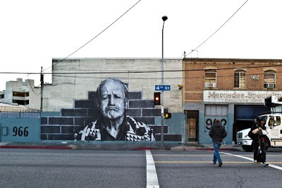 JR Mural in Downtown Los Angeles For Wrinkles of the City Project Day 2