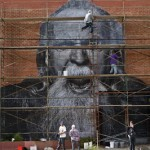"""JR New Mural Silverlake, Los Angeles """"Wrinkles of the City Project"""""""