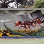 Fintan Magee New Mural For Jakarta Biennale '13 – Indonesia