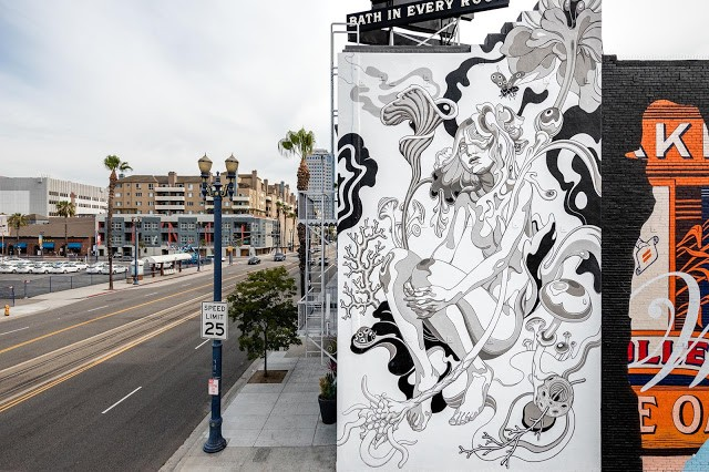 James Jean unveils a new piece in Long Beach for Pow! Wow!