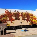 JAZ paints a striking mural on the streets of Ciudad Juarez in Mexico