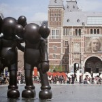 Kaws sculptures on display in Amsterdam