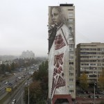 Guido Van Helten's paints a stunning mural in Kiev, Ukraine