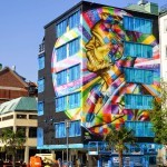 Kobra unveils a giant portrait of Alfred Nobel for No Limit Boras in Sweden