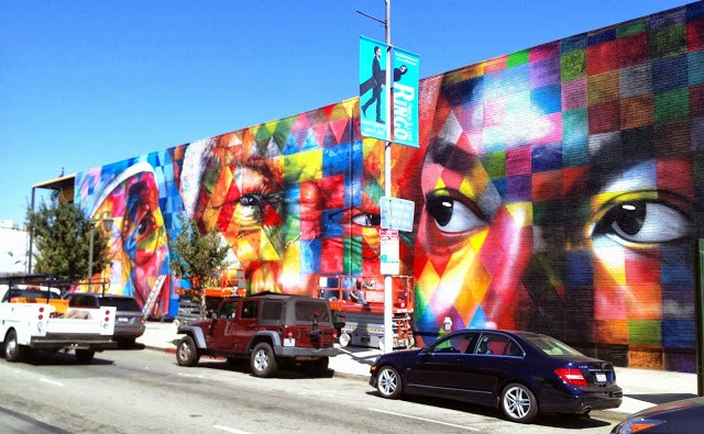 Kobra New Mural On N. Highland Ave In Los Angeles, USA